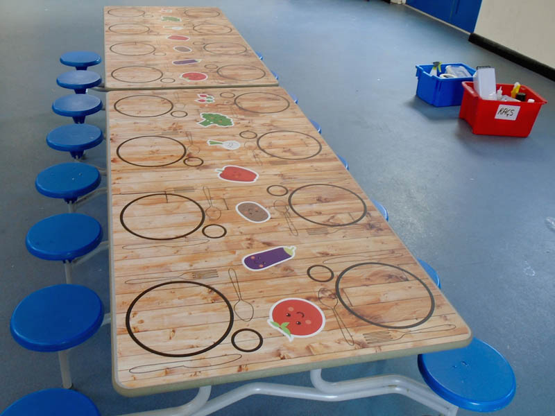 Dining room makeovers for schools